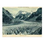 Vintage Francia Chamonix Mont Blanc Postal