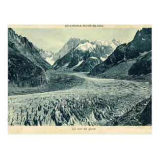 Vintage Francia Chamonix Mont Blanc Tarjeta Postal