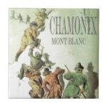 Vintage Francia, Chamonix, Mt Blanc Azulejos Cerámicos