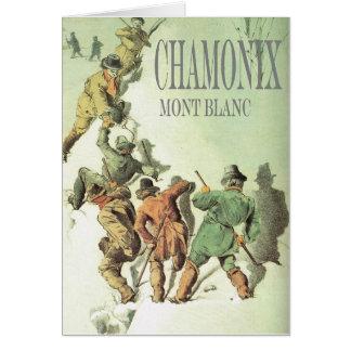 Vintage Francia, Chamonix, Mt Blanc Tarjeta De Felicitación