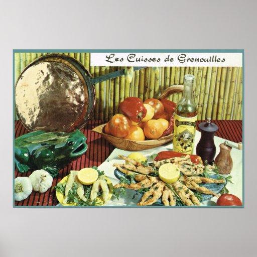 Vintage Francia, comida, Les Cuisses de Grenouille Posters