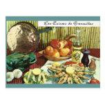 Vintage Francia, comida, Les Cuisses de Grenouille Tarjeta Postal