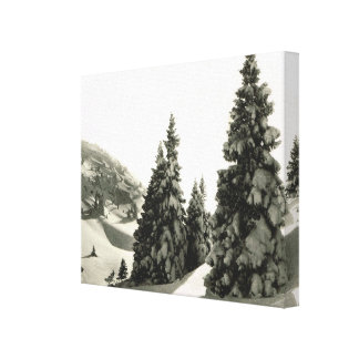 Vintage Francia, Haute el Jura, Col de la Faucille Lienzo Envuelto Para Galerias