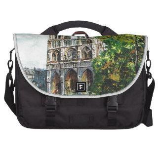 Vintage Francia Notre Dame de Paris Bolsas Para Portátil