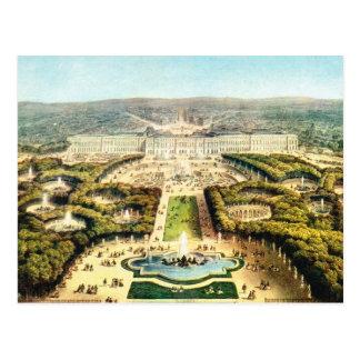 Vintage Francia, palacio de Versalles Tarjeta Postal