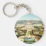 Vintage Francia, Palais de Versalles Llavero Redondo Tipo Pin