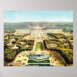 Vintage Francia, Palais de Versalles Póster