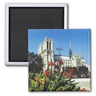 Vintage Francia, París, Notre Dame de la reproducc Iman De Frigorífico
