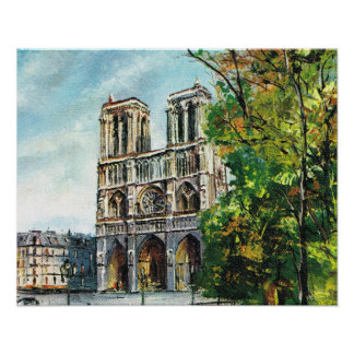 Vintage Francia, París, Notre Dame Impresiones
