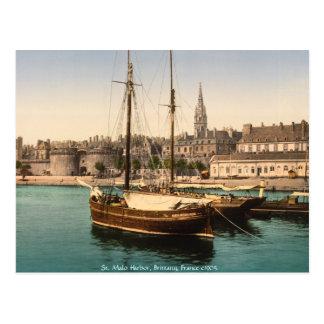 Vintage Francia, puerto Bretaña del St. Malo Postales