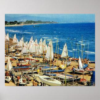 Vintage Francia, puerto y puerto deportivo, Var de Posters