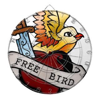 vintage free bird tattoo dartboard