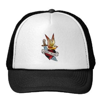 vintage free bird tattoo trucker hat