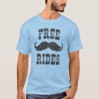 Vintage Free Mustache Rides T-shirt