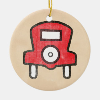 Vintage Free Parking Ceramic Ornament