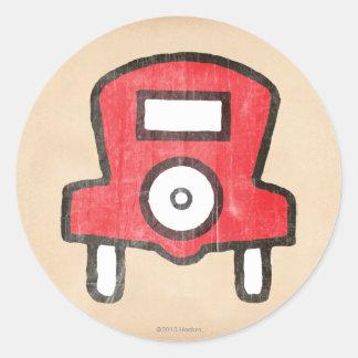Vintage Free Parking Classic Round Sticker
