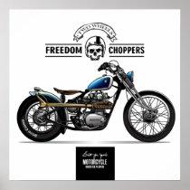 Vintage Freedom Chopper Motorcycle
