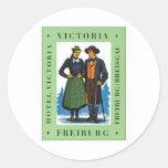 Vintage Freiburg Victoria Round Sticker