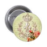 Vintage French 2 Inch Round Button