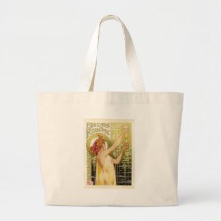 Vintage French Absinthe Advertisement Large Tote Bag