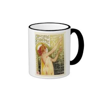 Vintage French Absinthe Advertisement Ringer Coffee Mug