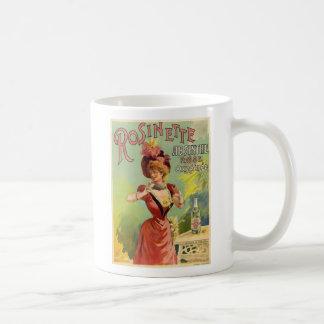 Vintage French Absinthe Rosinette Poster Mug