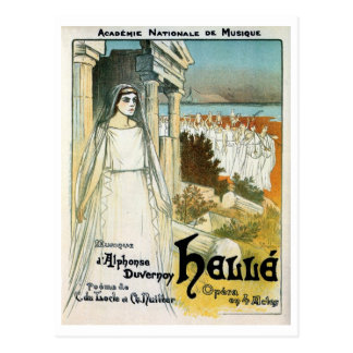 Vintage French Academy of Music ad Postcard
