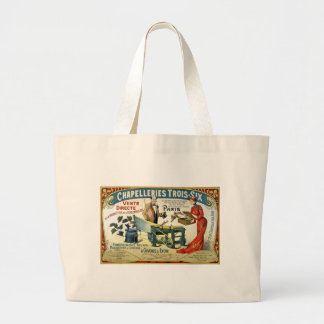 Vintage French Ad - Chapelleries1890 Large Tote Bag