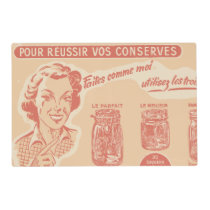 Vintage French Ad for Mason Jars Placemat