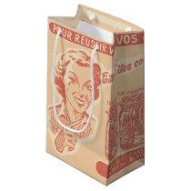 Vintage French Ad for Mason Jars Small Gift Bag
