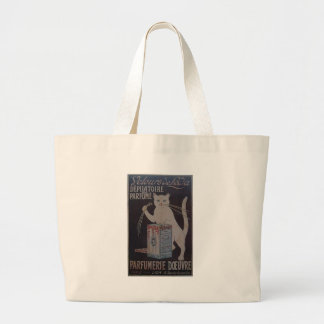 Vintage French Advertisement - cats Large Tote Bag