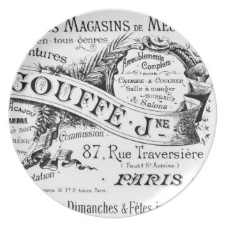 Vintage French Advertisement Ephemera illustration Dinner Plate