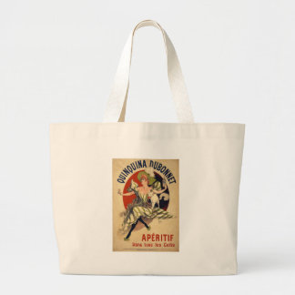 Vintage French Advertisement Large Tote Bag