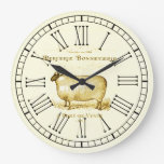 Vintage French Advertisement Sheep Large Clock