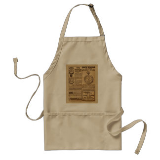 Vintage French advertising, from 1919 Adult Apron