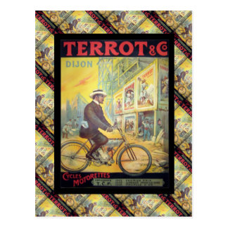 Vintage French advertising, Terrot Dijon cycles Postcard