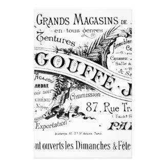 vintage french advertising typography stationery