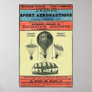 Vintage French Aeronautic Exhibition Print