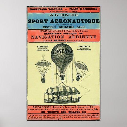 Vintage French Aeronautic Exhibition. Poster