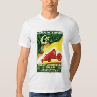 Vintage French Algerian Auto Race Ad Tee Shirts