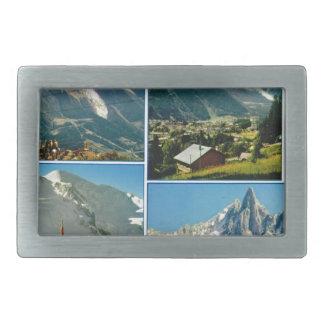 Vintage French Alps Chamonix Mt Blanc Belt Buckles