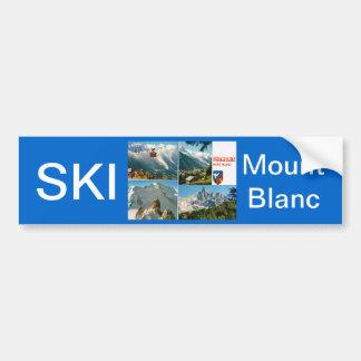 Vintage French Alps Chamonix Mt Blanc Bumper Sticker