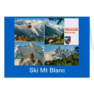 Vintage French Alps Chamonix Mt Blanc Card