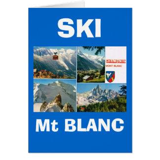 Vintage French Alps Chamonix Mt Blanc Greeting Cards
