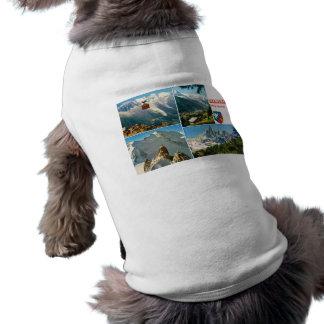 Vintage French Alps Chamonix Mt Blanc Pet T Shirt