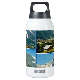 Vintage French Alps, Chamonix Mt Blanc Insulated Water Bottle