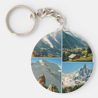 Vintage French Alps Chamonix Mt Blanc Key Chain