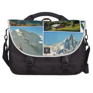 Vintage French Alps Chamonix Mt Blanc Bag For Laptop
