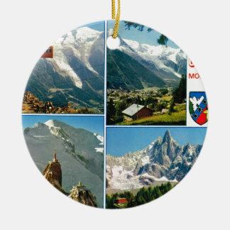 Vintage French Alps Chamonix Mt Blanc Christmas Ornaments