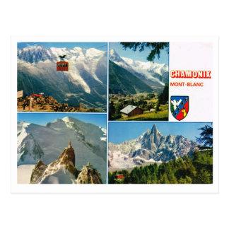 Vintage French Alps Chamonix Mt Blanc Post Cards